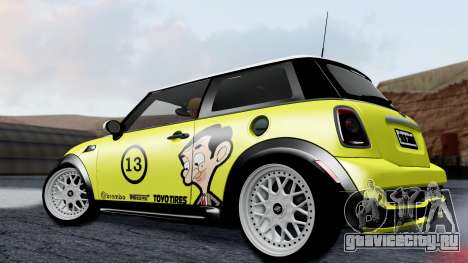 Mini John Cooper Works Mr.Bean для GTA San Andreas вид слева