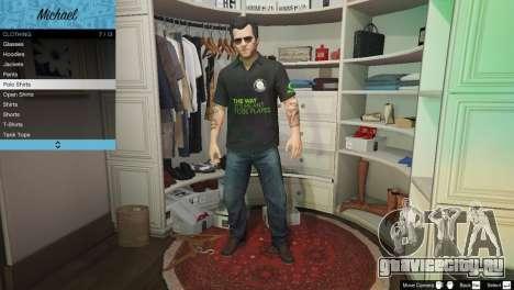 Рубашка поло Nvidia для Майкла для GTA 5