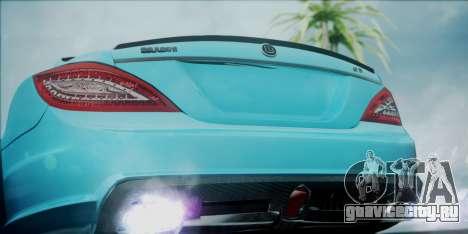 Mercedes-Benz CLS 63 BRABUS для GTA San Andreas вид сзади