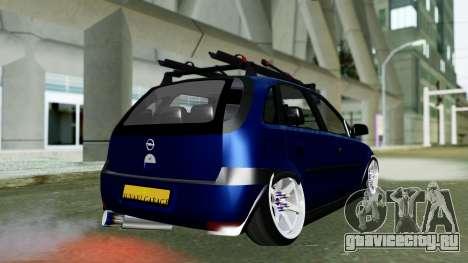 Opel Corsa C для GTA San Andreas вид слева