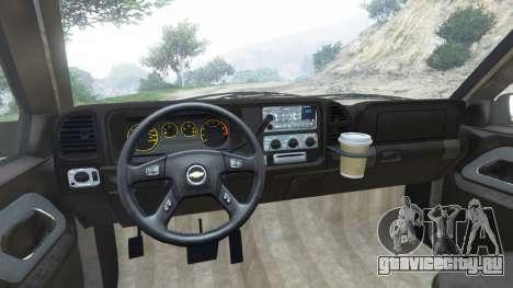 Chevrolet Suburban GMT400 для GTA 5 вид сзади справа