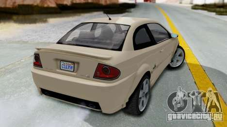 GTA 5 Declasse Premier IVF для GTA San Andreas вид слева