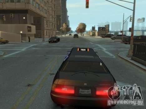 Taxi STRECH для GTA 4 вид сзади слева