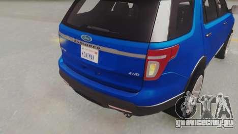 Ford Explorer для GTA San Andreas вид сзади