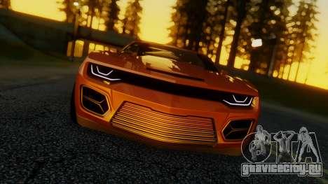 Chevrolet Camaro DOSH Tuning v2 для GTA San Andreas вид сзади слева