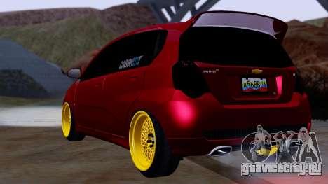 Chevrolet Aveo Stance для GTA San Andreas вид слева