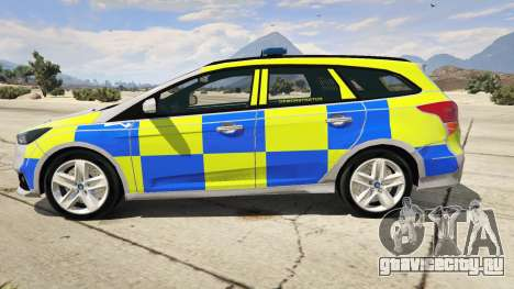 2015 Police Ford Focus ST Estate для GTA 5 вид слева
