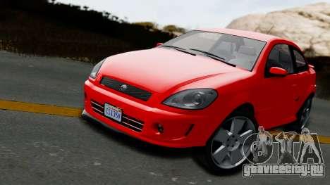 GTA 5 Declasse Premier Coupe IVF для GTA San Andreas вид сзади слева
