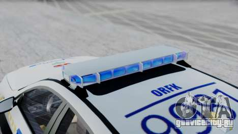 BMW M5 F10 Hungarian Police Car для GTA San Andreas вид сзади слева