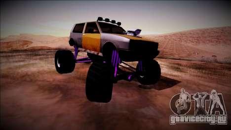 Club Monster Truck для GTA San Andreas вид сзади слева