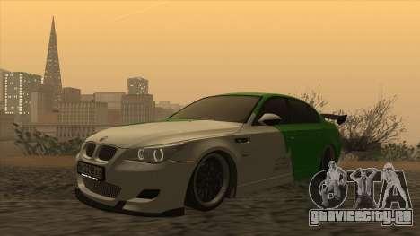 BMW m5 e60 Verdura для GTA San Andreas вид слева