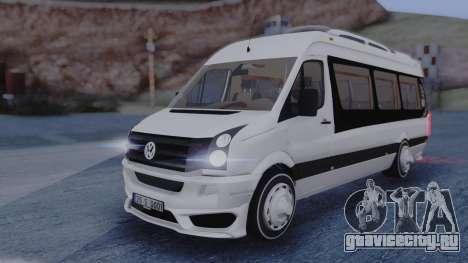 Volkswagen Crafter 2015 для GTA San Andreas