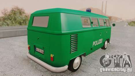 Volkswagen T1 Polizei для GTA San Andreas вид слева