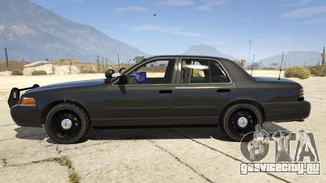 FBI Ford CVPI для GTA 5 вид слева