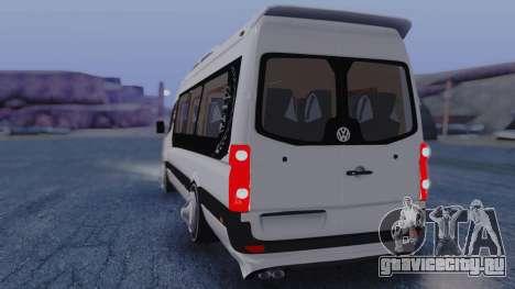 Volkswagen Crafter 2015 для GTA San Andreas вид сзади слева