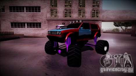 Club Monster Truck для GTA San Andreas вид снизу