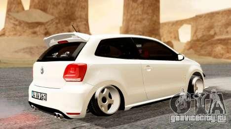 Volkswagen Polo GTI для GTA San Andreas вид сзади слева