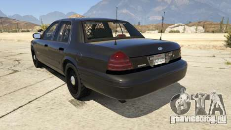 FBI Ford CVPI для GTA 5 вид сзади слева