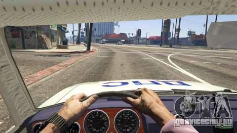 ВАЗ 2106 Полиция для GTA 5 вид сзади