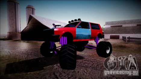 Club Monster Truck для GTA San Andreas вид сбоку