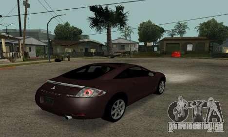 Mitsubishi Eclipse GT для GTA San Andreas вид сзади слева