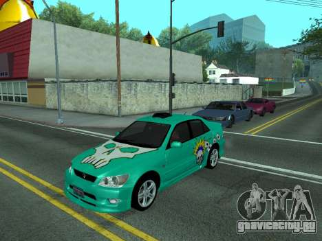 Toyota Altezza Tunable для GTA San Andreas вид сзади слева