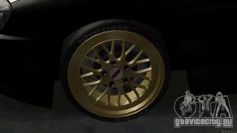 Toyota Supra Mid Night для GTA San Andreas вид сзади