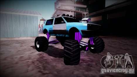 Club Monster Truck для GTA San Andreas вид сзади
