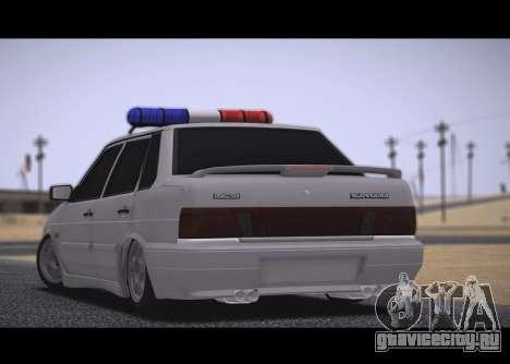 ВАЗ 2115 Бродяга для GTA San Andreas вид сзади слева