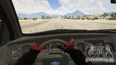 Ford Crown Victoria Detective для GTA 5 вид сзади