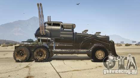Mad Max The War Rig для GTA 5 вид слева