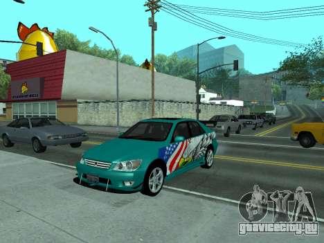Toyota Altezza Tunable для GTA San Andreas вид сзади