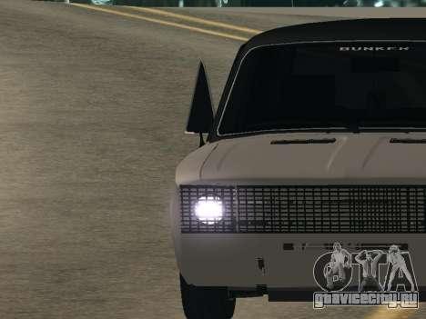 ВАЗ 2106 BUNKER для GTA San Andreas вид сзади слева