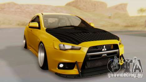 Mitsubishi Lancer Evolution X Stance для GTA San Andreas вид справа