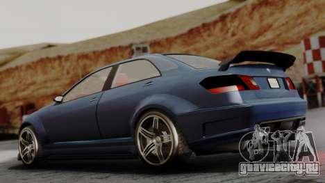 GTA 5 Benefactor Schafter V12 для GTA San Andreas вид слева