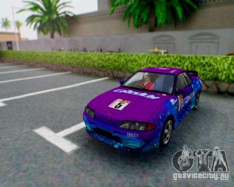 Nissan Skyline R32 GTR для GTA San Andreas вид сбоку