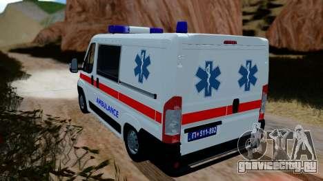 Fiat Ducato Serbian Ambulance для GTA San Andreas вид слева