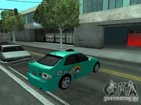 Toyota Altezza Tunable для GTA San Andreas вид справа