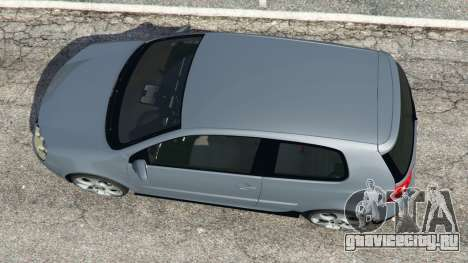 Volkswagen Golf Mk5 GTI 2006 v1.0 для GTA 5 вид сзади