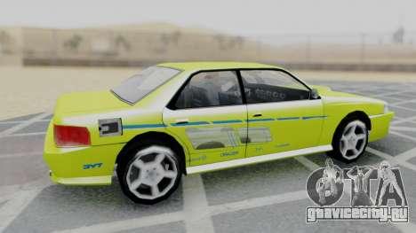 Sultan 2F2F Evo PJ для GTA San Andreas вид сзади слева