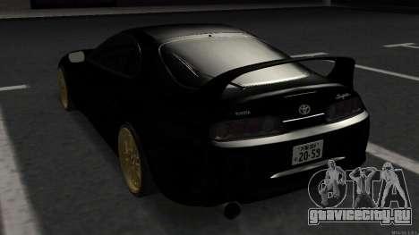 Toyota Supra Mid Night для GTA San Andreas вид сзади слева