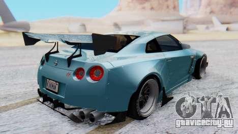 Nissan GT-R R35 Rocket Bunny v2 для GTA San Andreas вид сзади слева