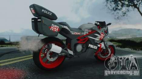 Bajidi R86 Police для GTA San Andreas вид слева