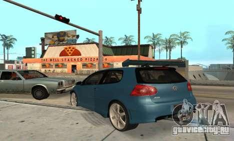 VW Golf R32 для GTA San Andreas вид справа