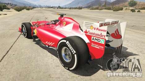 Ferrari F1 для GTA 5 вид сзади слева
