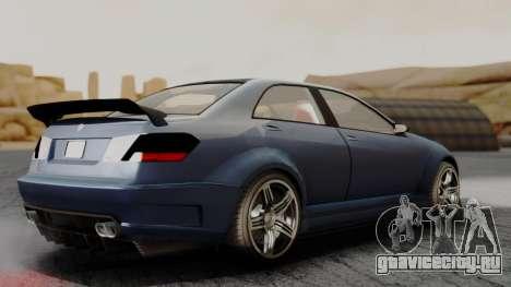 GTA 5 Benefactor Schafter V12 для GTA San Andreas вид сзади слева