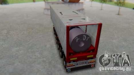 Trailer Colis Red для GTA San Andreas вид сзади слева