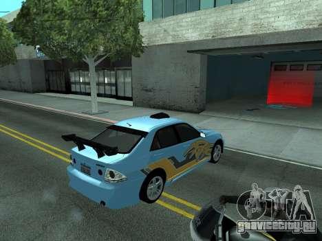 Toyota Altezza Tunable для GTA San Andreas вид сверху
