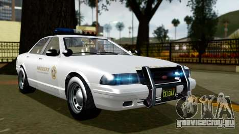 GTA 5 Vapid Stanier II Sheriff Cruiser для GTA San Andreas