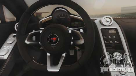 McLaren 650S Coupe Liberty Walk для GTA San Andreas вид изнутри